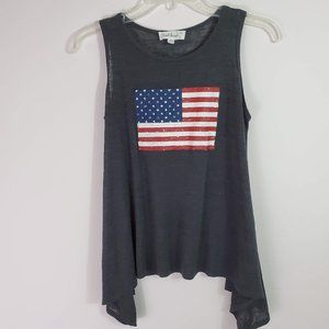 Cloud Chaser American Flag Graphic Tank